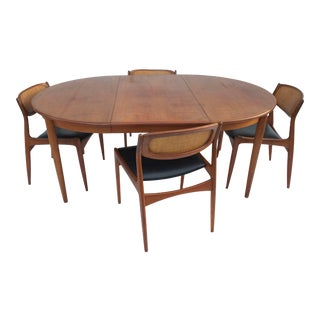 Ib Kofod Larsen Danish Modern Dining Set, 7 Pcs. For Sale