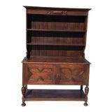 Image of Vintage Jacobean Open Shelf Display Cabinet For Sale