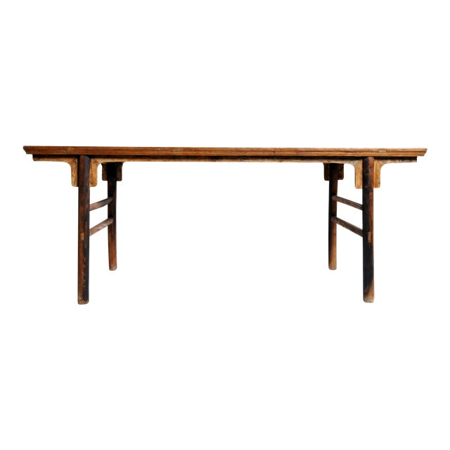 Chinese Painting Table with Round Legs For Sale