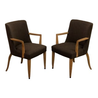 1940s Vintage Early Edward Wormley for Dunbar Mid Century Modern Chairs- A Pair For Sale