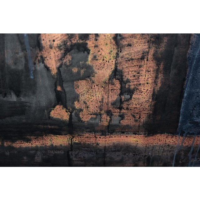 Aaron Fink (American, B.1955) Vintage Abstract Original Painting C.1986 For Sale - Image 10 of 13