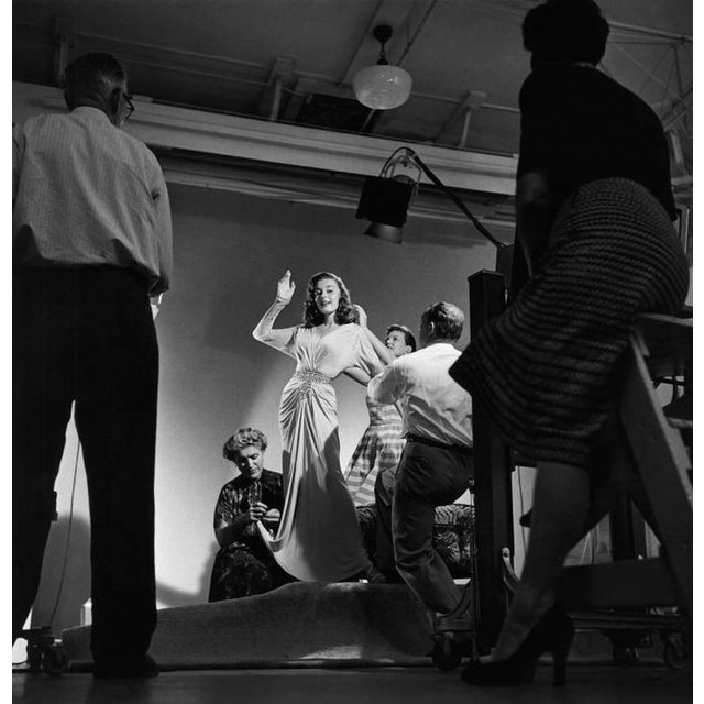 1950s Elaine Stewart being photographed by Ray Jones 1953 For Sale - Image 5 of 5