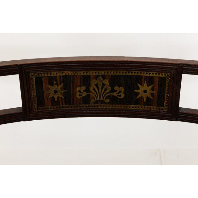 Brass Early 19th Century Antique Regency Style Triple Back Settee For Sale - Image 7 of 13