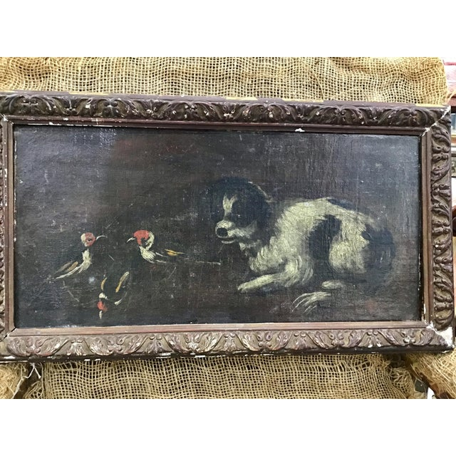 18th Century Italian Dog Painting For Sale - Image 10 of 11
