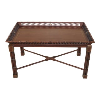 John Widdicomb Chinese Chippendale Cherry Coffee Table For Sale