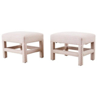 Milo Baughman Style Parsons Ottoman Benches - a Pair For Sale
