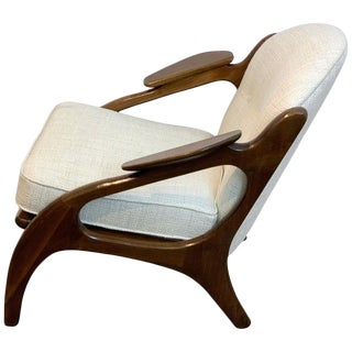 Adrian Pearsall for Craft Associates Lounge Chair #2249-C, Restored For Sale