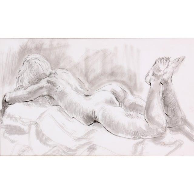 L. Davis Female Figure Lying Face Down - Image 2 of 6