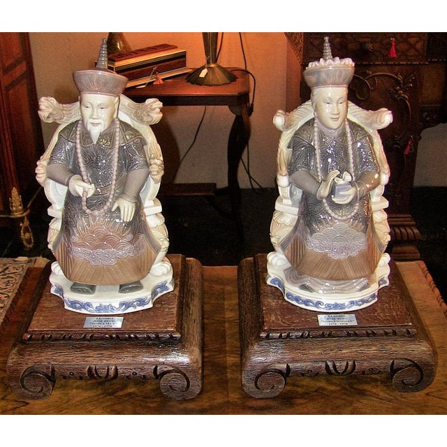 Lladro Retired Figurines of Chinese Nobleman and Noblewoman - Very Rare - Image 2 of 12