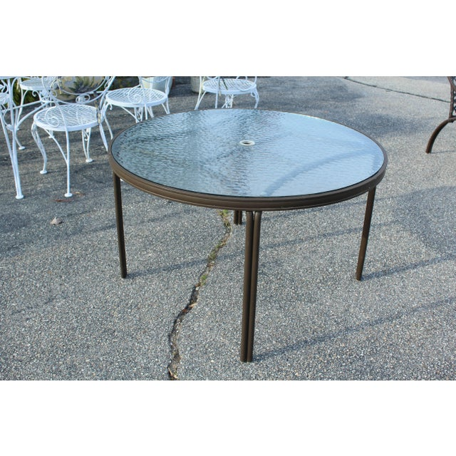 Mid-Century Modern Brown Jordan Outdoor Table For Sale - Image 4 of 5