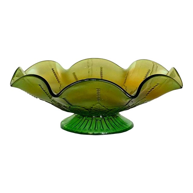 Northwood Rainbow Carnival Glass Bowl, Underlined N Logo For Sale