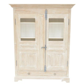 Sarreid Ltd. Shabby Chic Reclaimed White Pine Armoire For Sale