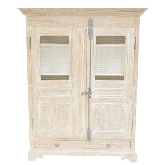 Sarreid Ltd. Shabby Chic Reclaimed White Pine Armoire - Image 1 of 4