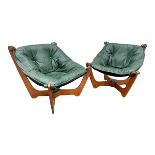Mid Century Odd Knutsen Luna Chairs- a Pair For Sale