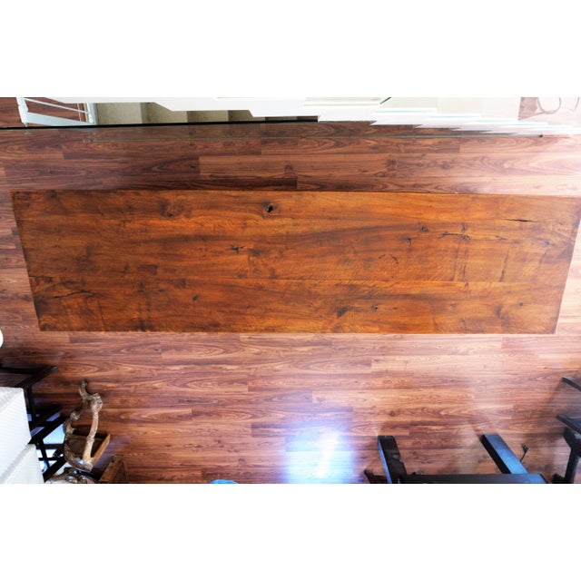 Large 19th Century Spanish Refectory Walnut Farm Draper´s Table or Console For Sale - Image 9 of 10