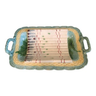 Majolica Asparagus Dish For Sale