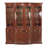 Image of Councill Large Mahogany Breakfront China Cabinet For Sale