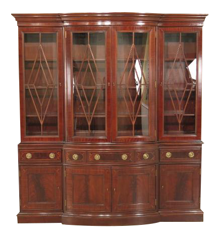 Superieur Councill Large Mahogany Breakfront China Cabinet