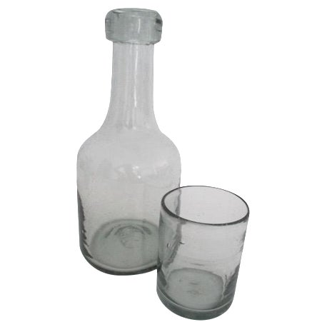 Carafe & Cup Handblown Glass - Image 1 of 4
