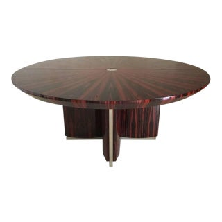 Contemporary Macassar Ebony Dining Table For Sale