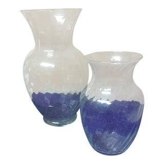 Indiana Glass Co. Vases - A Pair