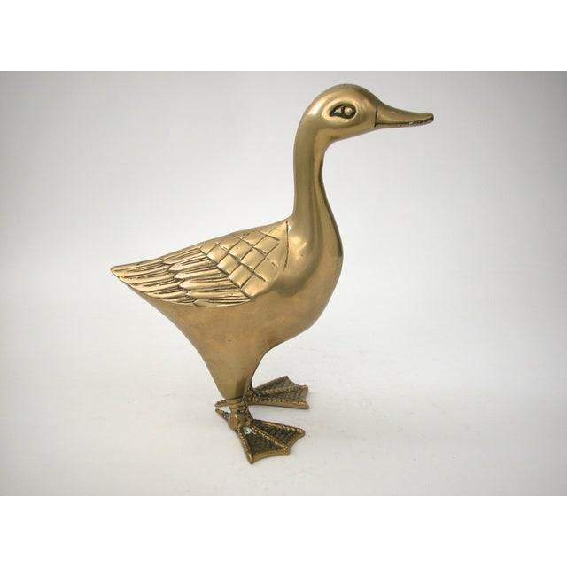 Large Brass Goose - Image 7 of 8