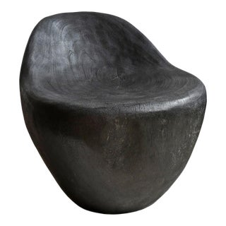 Ebony Stain Scoop Chair For Sale