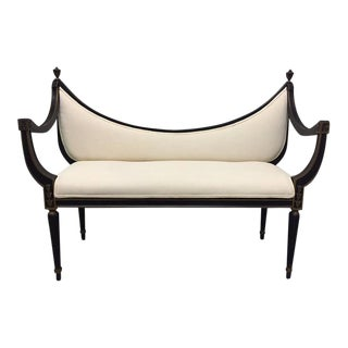 French Jansen Style Upholstered Bench