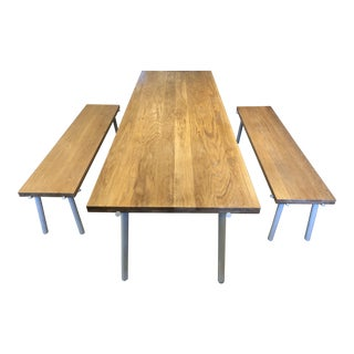 Organic Modern Blu Dot Branch Dining Table and Benches - 3 Piece Set