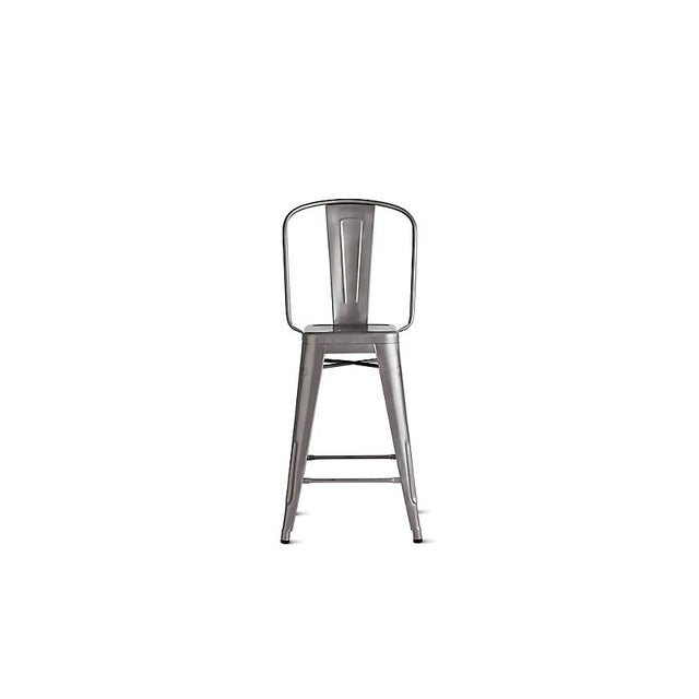 French Tolix Marais Counter Stool For Sale - Image 3 of 9