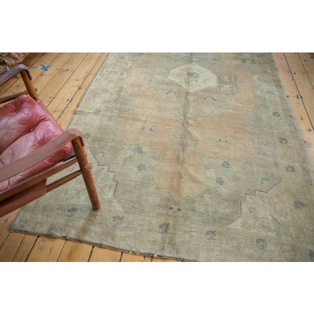 "Islamic Vintage Distressed Oushak Carpet - 5'4"" x 9'11"" For Sale - Image 3 of 14"