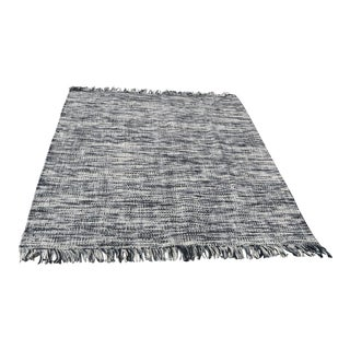 Handmade Wool Berber Grey and Ivory Rug - 8′4″ × 10′ For Sale