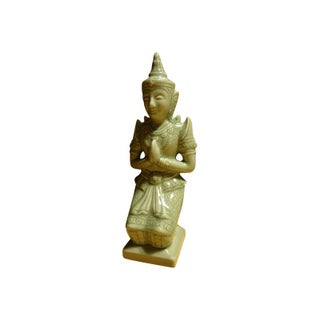 Celadon Thai Kneeling Buddha For Sale