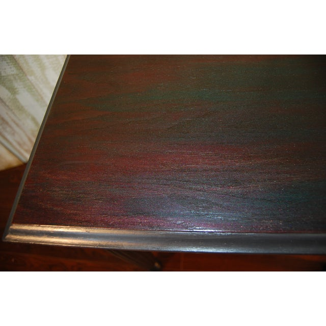 Black Table with Jewel Toned Surface - Image 4 of 8