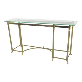 LaBarge Brass & Glass Console/Sofa Table For Sale