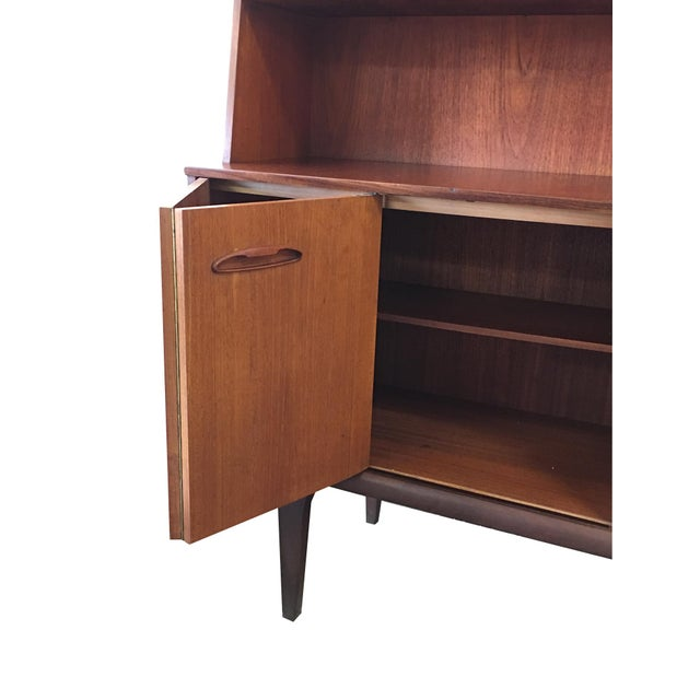 1960s Vintage Mid-Century Modern Danish Teak Buffet With Dry Bar For Sale - Image 5 of 11