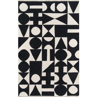 Novogratz by Momeni Topanga Roberta in Black Rug - 4'X6' For Sale