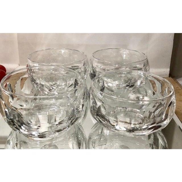 Art Deco Signed Edinburgh Scottish Crystal Bowls - Set of 16 For Sale - Image 3 of 7