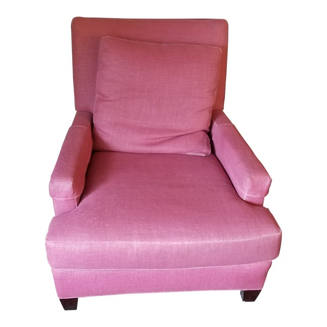 Modern Baker Furniture Company Pink Cotton Lounge Chair | Chairish