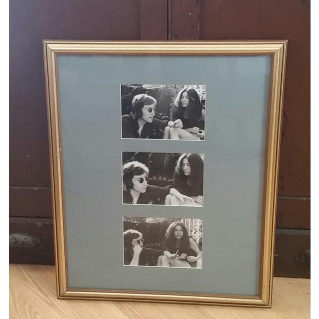 1972 Vintage John Lennon & Yoko Ono Triptych B & W Gel Photographs For Sale - Image 10 of 10