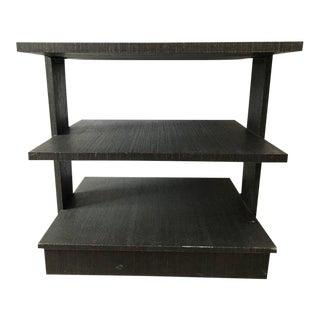 Ralph Lauren Ebony Three Shelf End Table