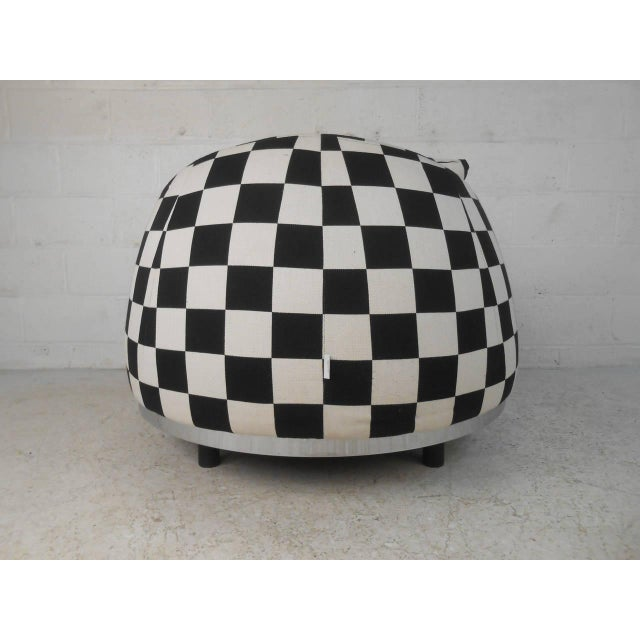 Checkered Contemporary Modern Italian Club Chair For Sale - Image 4 of 8