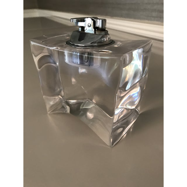Contemporary Vintage Mid-Century Modern Lucite Table Lighter For Sale - Image 3 of 7