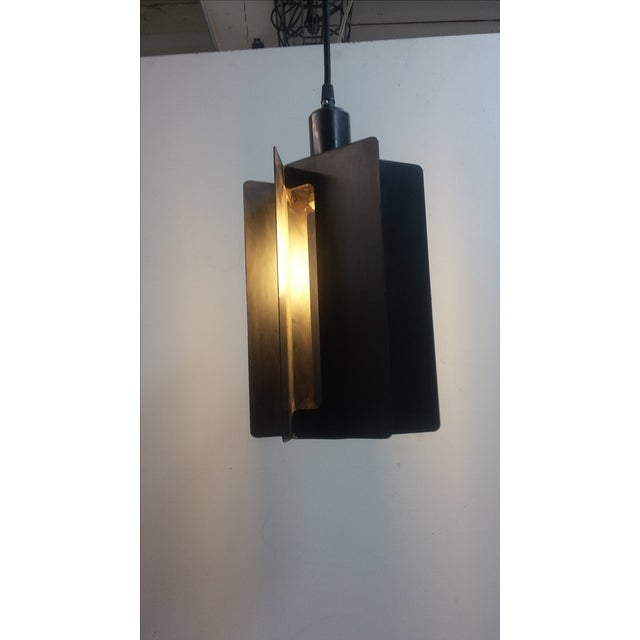 Paddle Wheel Light Pendant For Sale - Image 4 of 4