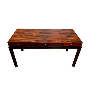 Milo Baughman for John Stuart Mid Century Modern Floating Top Rosewood Desk For Sale