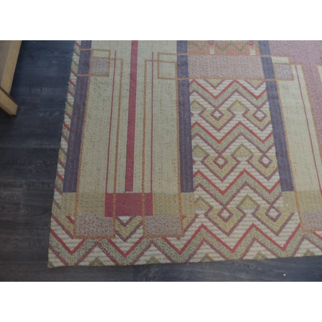 Silk Frank Lloyd Wright Arts & Crafts Inspired Rug - 8′6″ × 11′2″ For Sale - Image 7 of 8