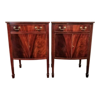 American Made Mahogany Pier Cabinets / Bedside Cabinets - a Pair For Sale