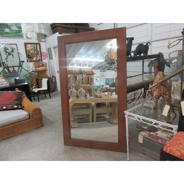 Tall Rattan Woven Mirror - Image 5 of 8