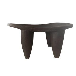 "African Senufo Wood Kids Milk Stool I . Coast 14.75"" W by 7"" H For Sale"