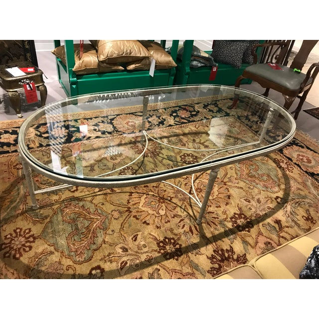 2010s Minton Spidel Iron Coffee Table For Sale - Image 5 of 7